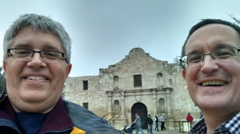 Doug and Dan at Alamo